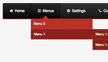 Flat Tabbed Menu | CSS MenuMaker